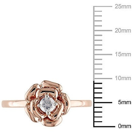 Other 10k Pink Gold 17 Ct Diamond Tw Fashion Ring Gh I2-i3