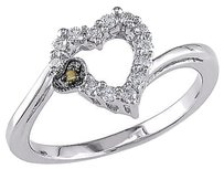 Other 14k White Gold 15 Ct Diamond White Black Rhodium Yellow Diamond Ring I1-i2