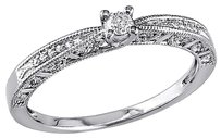 Sterling Silver 110 Ct Diamond Tw Promise Engagement Ring Gh I2i3