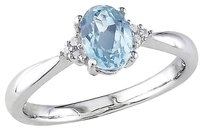 Other 0.98 Ct Tw Diamond And Blue Topaz - Sky Fashion Ring In Sterling Silver I3