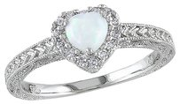 Other Sterling Silver 17 Ct Diamond Tw And 13 Ct Tgw Opal Fashion Ring Gh I3