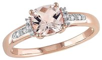 10k Pink Gold Diamond And 1 Ct Tgw Morganite Fashion Ring Gh I2i3
