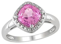 Sterling Silver 2 Ct Tgw Pink Sapphire Fashion Ring