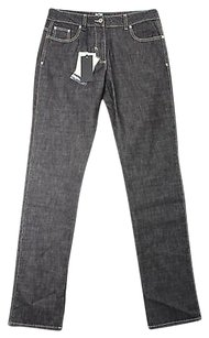 Now Womens Grey Cotton Straight Leg Jeans