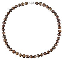 Other 18 Freshwater Brown Pearl Necklace With Silver Ball Clasp 8-9 Mm