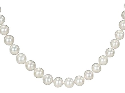 Other 7-7.5 Mm Endless White Freshwater Pearl Strand Necklace 54