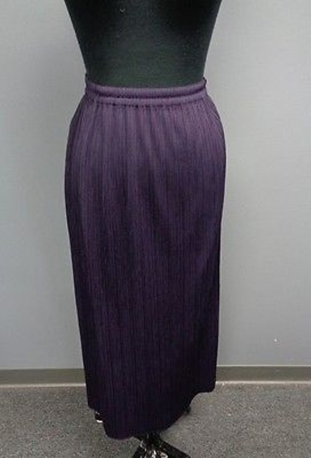 61186cd980 on sale Pleats Please Royal Purple Polyester Pleated Full Length Casual  Skirt Sma3347 #18293935 -