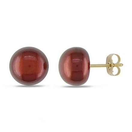 Other 14k Yellow Gold 9-9.5mm Pearl Stud Earrings