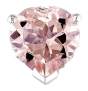Other Sterling Silver Morganite Heart Love Stud Earrings 3.4 Ct Tgw