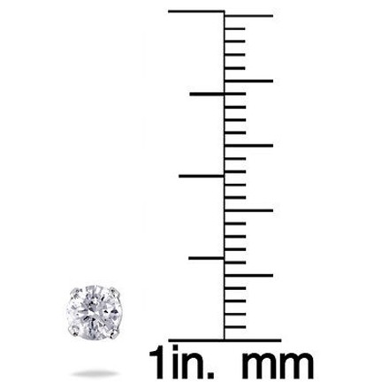 Other 14k White Gold Round Diamond Solitaire Stud Earrings 0.50 Cttw J-k I2-i3