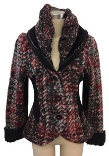 Cocomenthe Red Woven Red/ Black Jacket