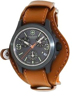 Swiss Army Victorinox Original Le Leather Chronograph Mens Watch 241594