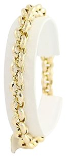 Textured Rolo Chain Bracelet 14 - 14k Yellow Gold Womens