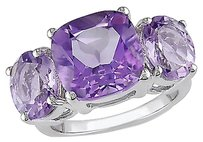 Other Sterling Silver 5 58 Ct Tgw Amethyst Pink Amethyst Three Stone Fashion Ring
