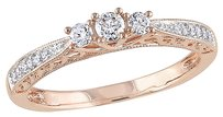 10k Pink Gold 14 Ct Diamond Tw Fashion Ring Gh I2i3