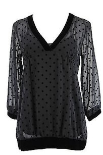 Polka Dot Womens Top black