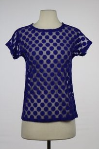 Womens Polka Dot Top Blue