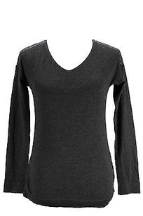 Whos Who Womens Grey Top gray