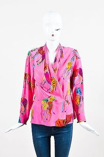 Vintage Pink Yellow Green Top Multi-Color