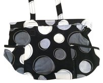 Tote in Black Happy Dot