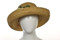 Toucan Collection Womens Tan Woven Straw Hat One Casual
