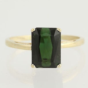 Other Tourmaline Solitaire Ring - 14k Yellow Gold Womens 12 Genuine 6.37ctw
