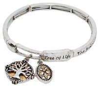 Tree of life charm stretch bracelet