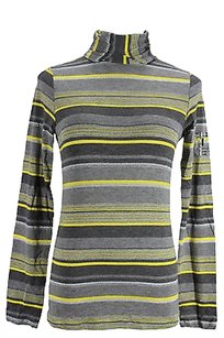 Rocco Barocco Striped Womens Top gray