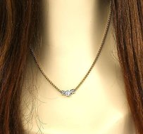 Two Tone 14k Gold Ladies 70 Point Diamond Solitaire Necklace 18