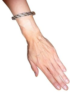 Two-Tone Sterling Silver Textured Bracelet