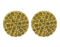 Other Unisex 10k Yellow Gold Real Diamond Round Irradiated Canary Earring Studs .33ct