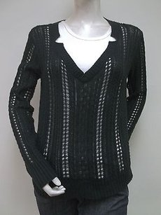 Other Topin V Neck Loose Knit Lightweight Cotton Blend G50372 Sweater