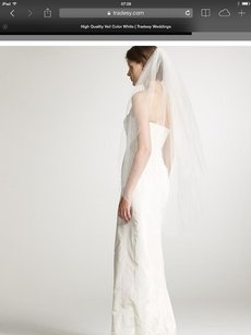 Veil With Comb Fingertip Length