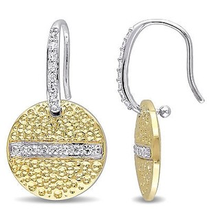 Other Versace 19.69 Abbigliamento Sportivo 18k Gold Covered Silver Charm Earrings