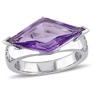 Other Versace 19.69 Abbigliamento Sportivo Srl Silver Amethyst Sapphire Cocktail Ring