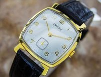 Other Vintage Croton Swiss Made Mens Gold Plated Manual Dress Watch C1960 Pb2