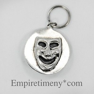 Vintage Sterling Silver Theater Comedy Happysad Face Mask Charm