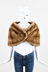 Vintage Two Tone Brown Mink Fur Cropped Evening Capelet