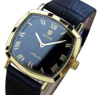 Waltham Maxim Swiss Made Manual 1970s Gold Plated Mens Dress Watch Q43