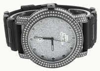 Other Black Pvd Mens Watch Techno Pave Jojo Jojino White Simulated Diamond Bullet Band