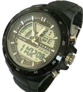 Cohro G T Sky Shock Resistant S0905blk Promaster Seiko Movement Sport Watch G5