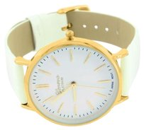 Other Ladies Classic Leather Band Gold Casing Geneva Wrist Watch Stainless Steel Back
