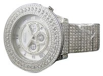 Mens Iced Out Jojojojinotechnoart Big Face Ct White Simulated Diamond Watch