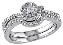 Sterling Silver 17 Ct Diamond Tw Bridal Set Ring Gh I2i3