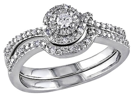Other Sterling Silver 17 Ct Diamond Tw Bridal Set Ring Gh I2i3