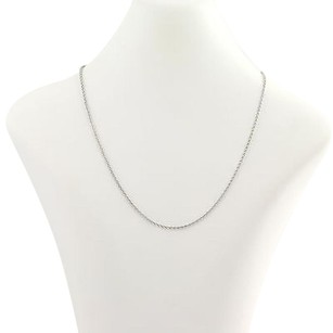 Wheat Chain Necklace 16 - 14k White Gold Womens
