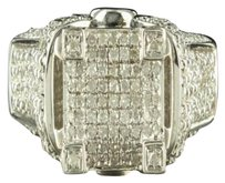Women Promise Ring Tower Style Square Cut Ideal Cut .60ct Diamond Gold Finish