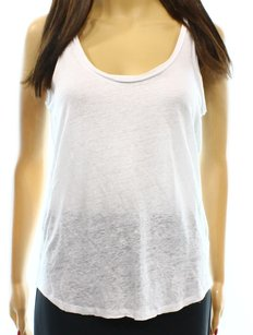 Paige Denim 100% Linen 2305680-owt Cami Top White