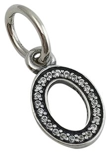 PANDORA PANDORA Initial Letter O Sterling Silver with Clear CZ Dangle Charm 791327CZ