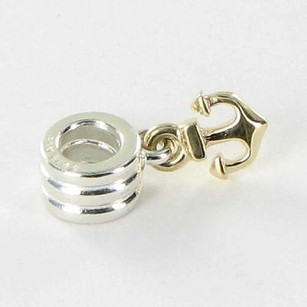 PANDORA Pandora 790225 Charm Bead Dangle Anchor 14k Yellow Gold Sterling Silver